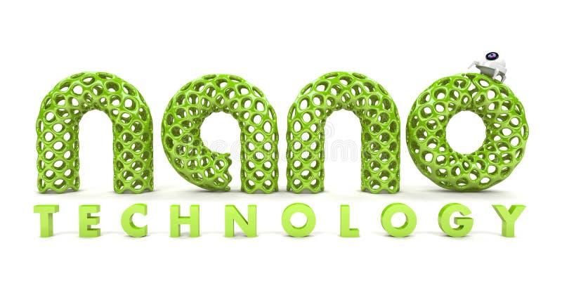 De nanotechnologie van de inschrijving royalty-vrije illustratie