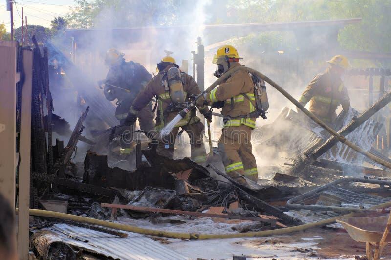 De Nasleep van de brand stock afbeeldingen