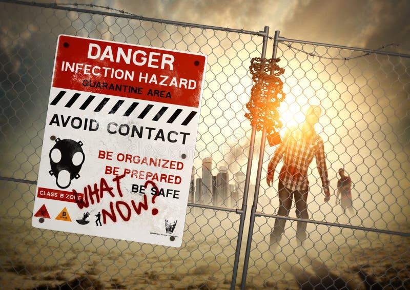De Nasleep van de zombie royalty-vrije stock afbeelding