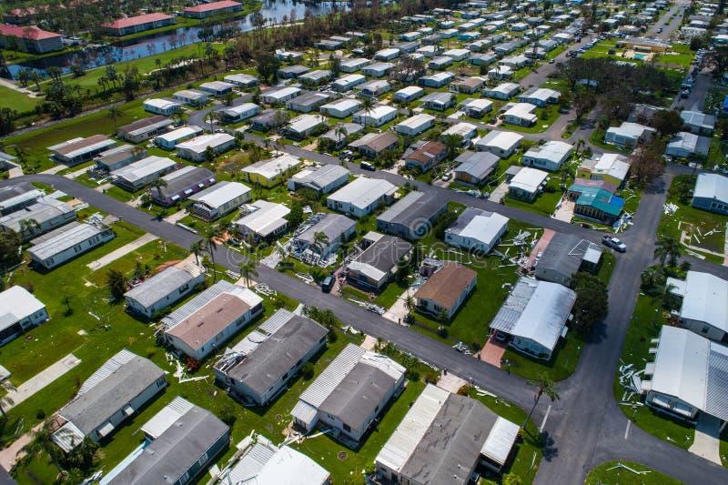 De nasleeporkaan Irma Naples FL, de V.S. van het aanhangwagenpark stock fotografie