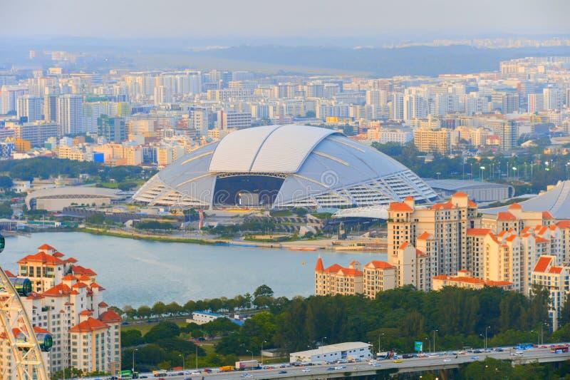 De nationale arena Singapore van de stadionsport stock afbeeldingen