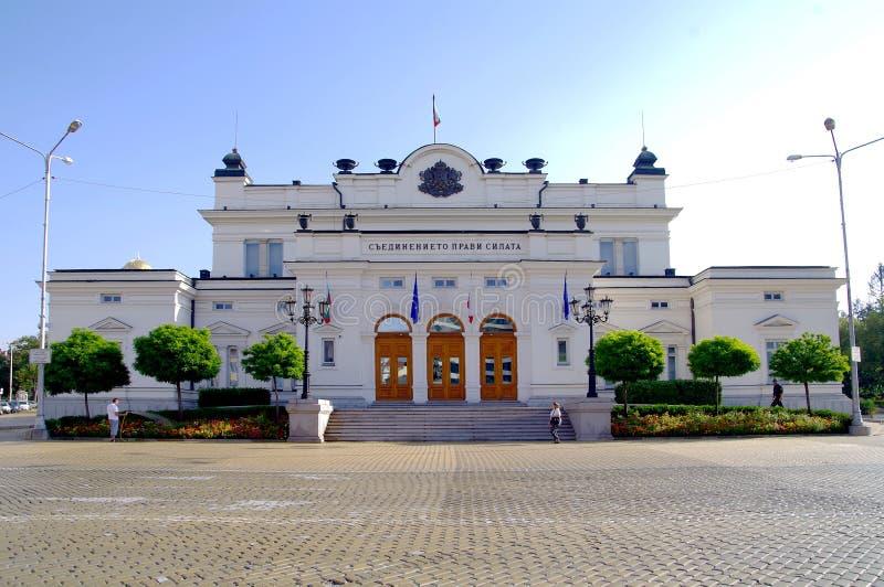 De nationale assembleebouw in Sofia, Bulgarije, Europa stock afbeelding