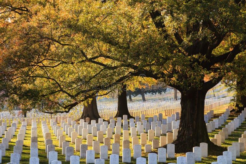 De Nationale Begraafplaats van Arlington stock foto's