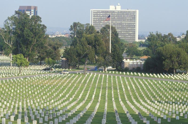 De Nationale Begraafplaats van de veteraan stock afbeeldingen