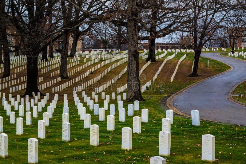 De Nationale Begraafplaats van Verenigde Staten stock foto's