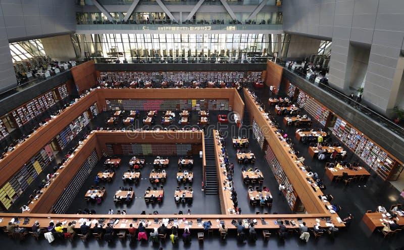 De Nationale Bibliotheek van China in Peking stock foto's