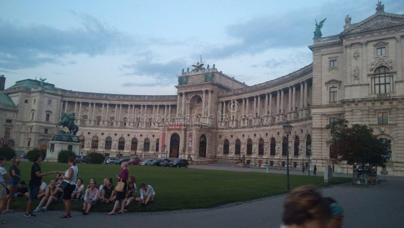 De Nationale bibliotheek van Oostenrijk in Wien royalty-vrije stock afbeelding