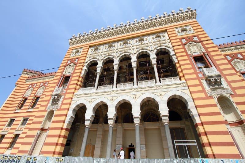 De nationale bibliotheek van Sarajevo royalty-vrije stock afbeelding
