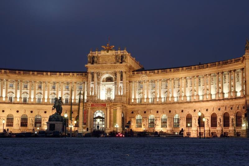 De Nationale bibliotheek van Wienna royalty-vrije stock afbeelding