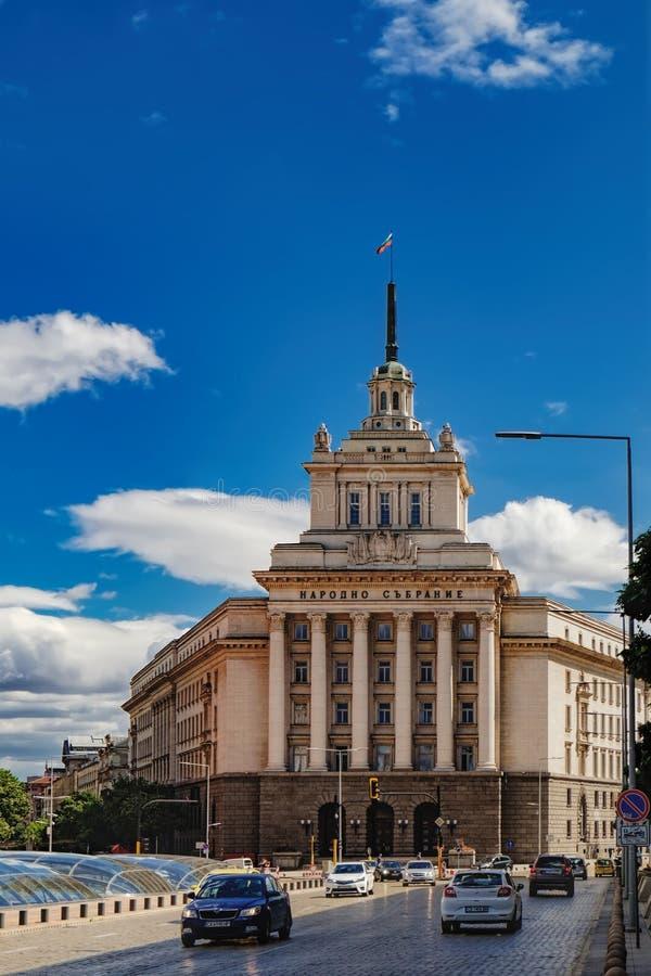 De nationale bouw van de Assemblage in Sofia, Bulgarije stock foto