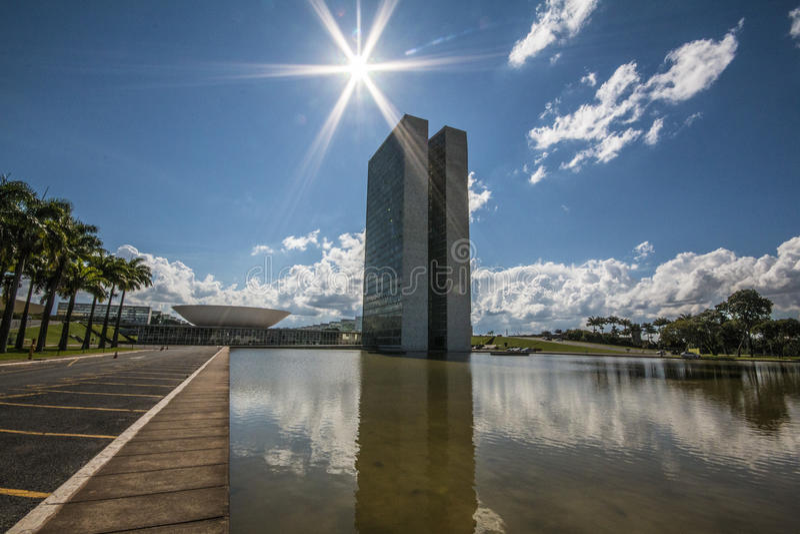 De nationale Congresbouw - Brasília - DF - Brazilië royalty-vrije stock fotografie