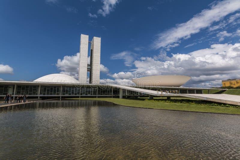 De nationale Congresbouw - Brasilia - DF - Brazilië royalty-vrije stock foto's