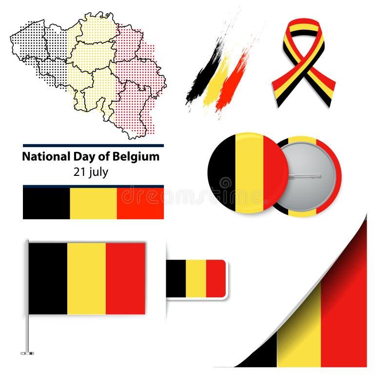 De nationale dag van België royalty-vrije illustratie