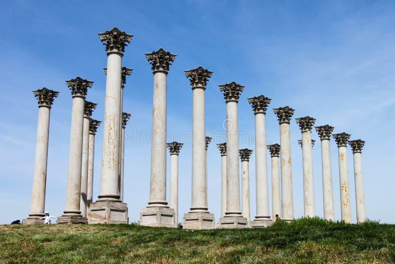 De nationale Kolommen van het Capitool royalty-vrije stock afbeelding