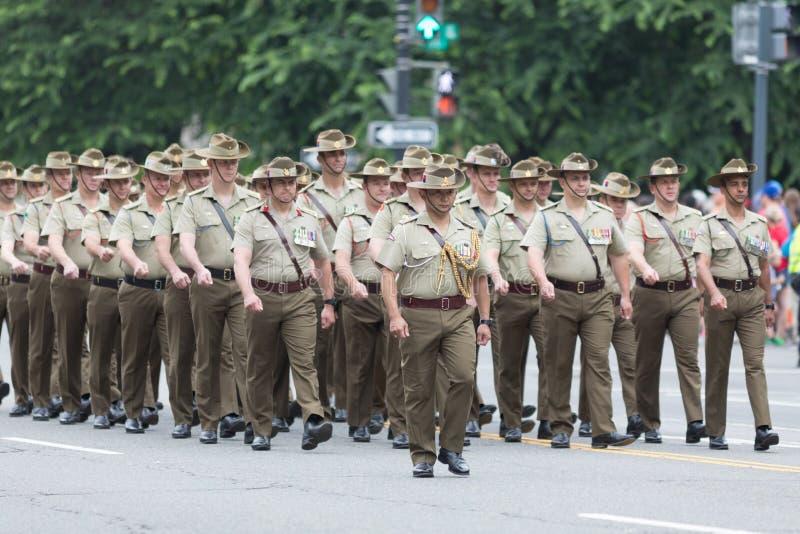 De Nationale Memorial Day -Parade stock foto's