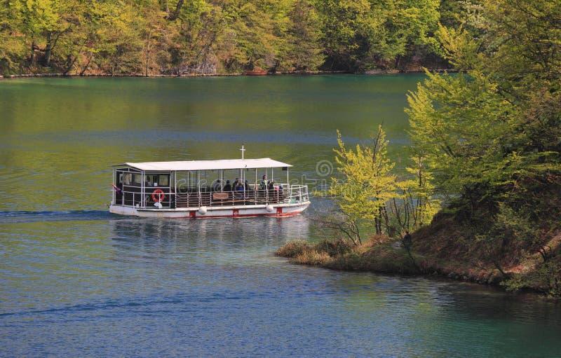 De nationale meren van parkPlitvice stock afbeeldingen