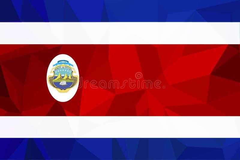 De nationale officiële vlag van Costa Rican Patriottisch symbool, banner, element, achtergrond Nauwkeurige afmetingen Vlag van Co stock illustratie