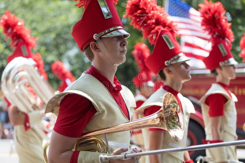 De nationale Parade 2018 van de Onafhankelijkheidsdag stock foto