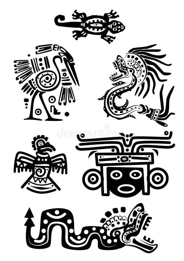 De nationale patronen van de Indiaan stock illustratie