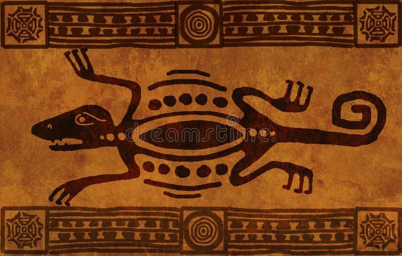 De nationale patronen van de Indiaan vector illustratie