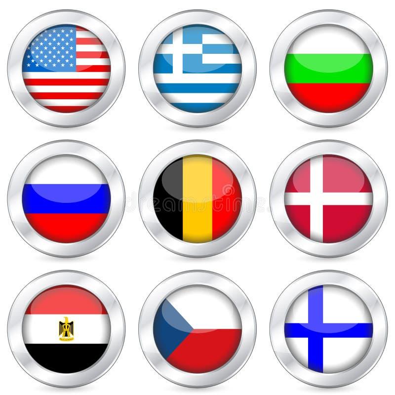 De nationale reeks van de vlagknoop vector illustratie