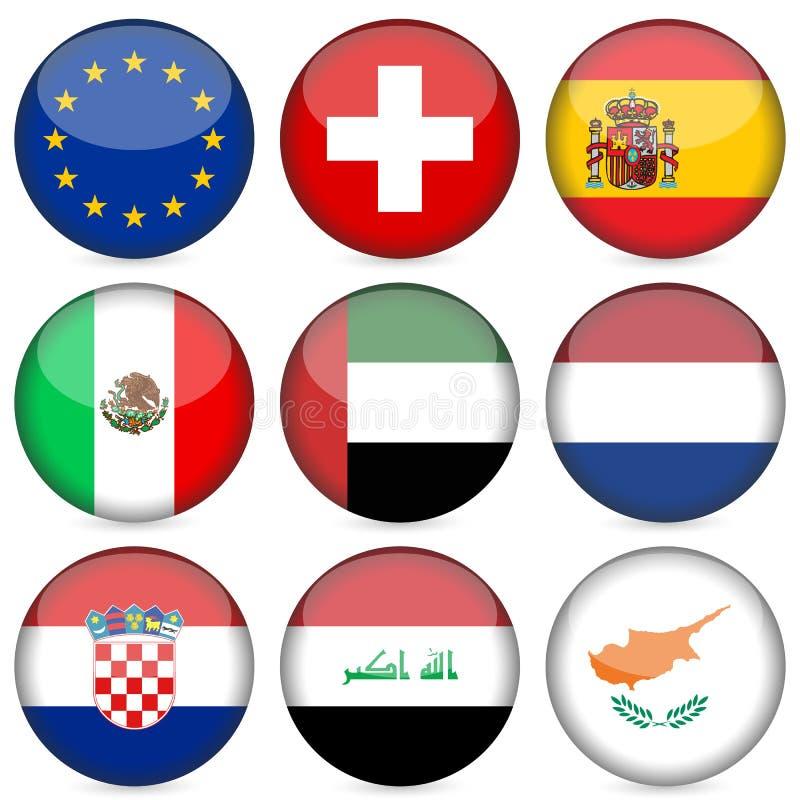 De nationale reeks van het vlagpictogram