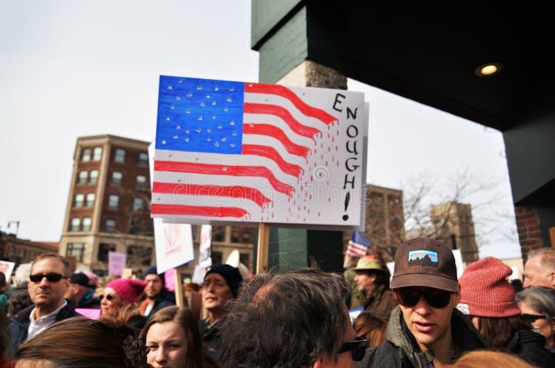 De nationale Student Protester Holding Sign van de Schoolstaking stock afbeeldingen