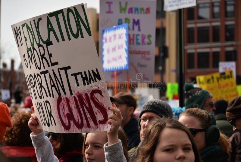De nationale Student Protester Holding Sign van de Schoolstaking royalty-vrije stock foto