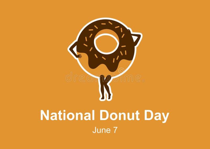 De nationale vector van de Doughnutdag vector illustratie