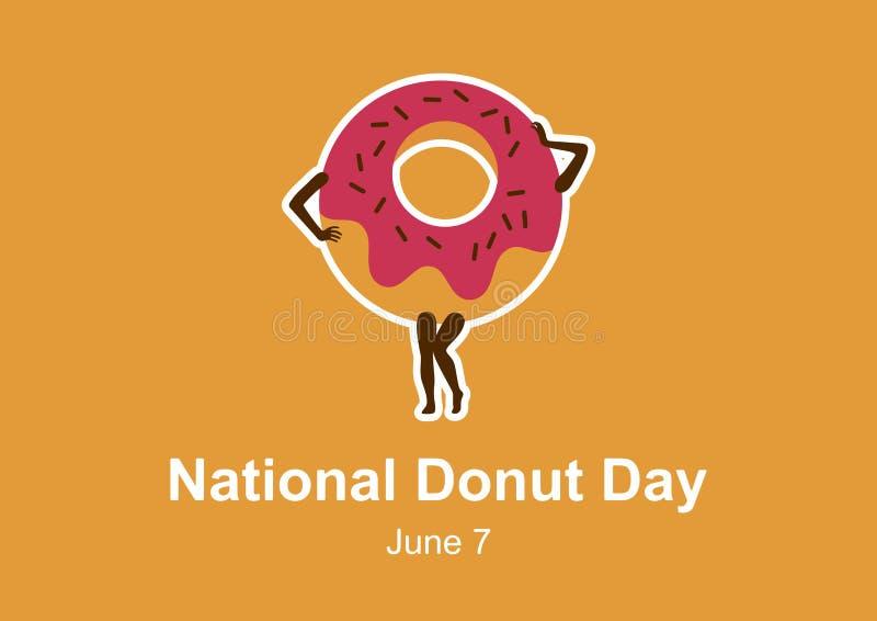 De nationale vector van de Doughnutdag stock illustratie