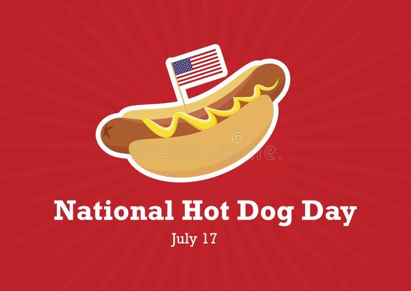 De nationale vector van de Hotdogdag royalty-vrije illustratie