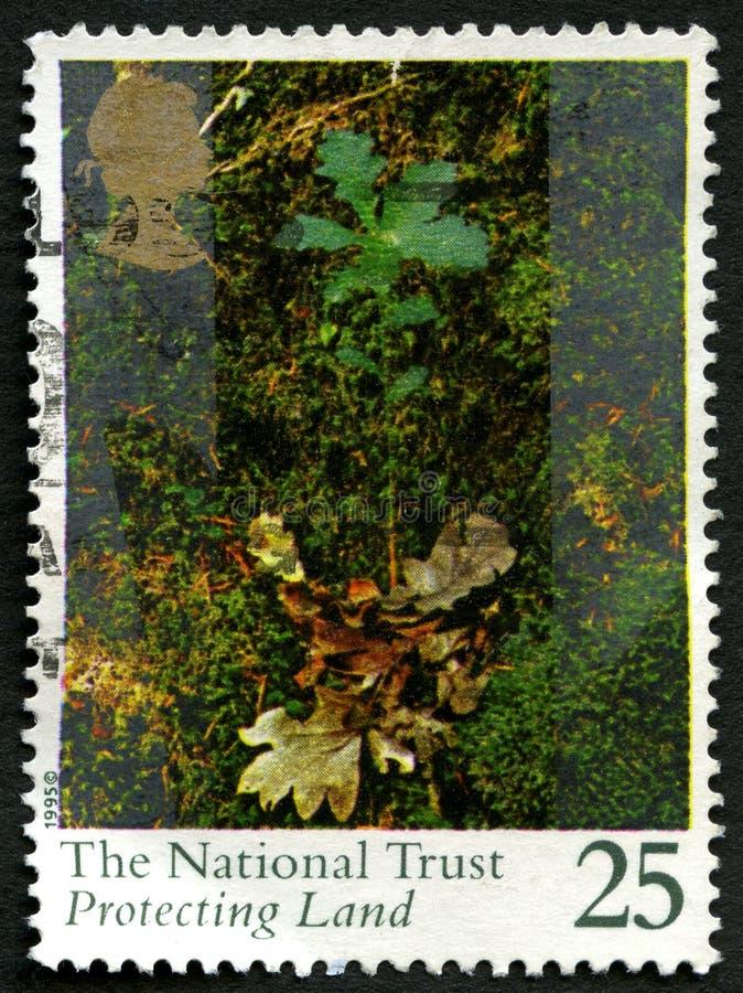 De Nationale Vertrouwens Britse Postzegel stock afbeelding