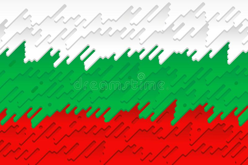 De nationale vlag van Bulgarije vector illustratie