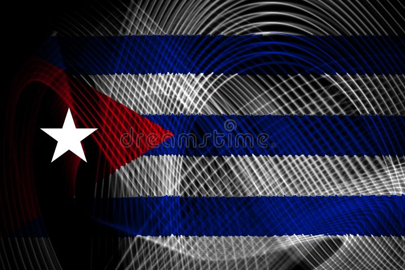De nationale vlag van Cuba stock illustratie