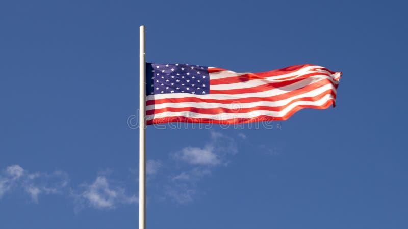 De nationale vlag van de Verenigde Staten van Amerika royalty-vrije stock afbeeldingen