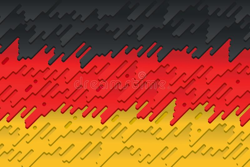 De nationale vlag van Duitsland vector illustratie