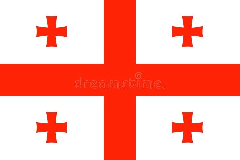 De nationale vlag van Georgi? Vector illustratie Tbilisi stock illustratie