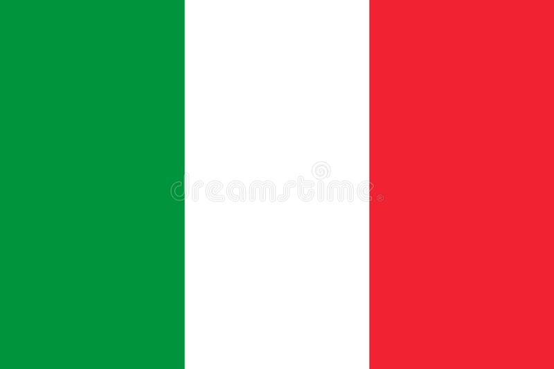 De nationale vlag van Itali? Vector illustratie rome stock illustratie