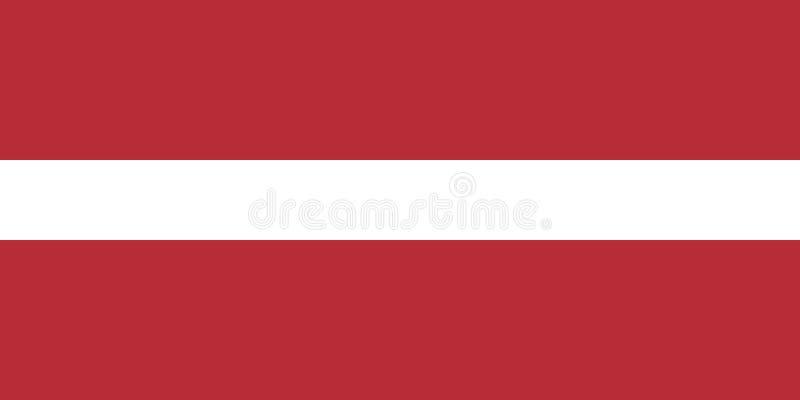 De nationale vlag van Letland Vector illustratie riga vector illustratie