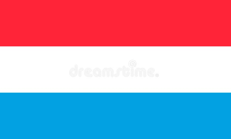De Nationale Vlag van Luxemburg Vector illustratie europa vector illustratie