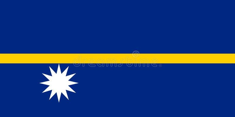 De nationale vlag van Nauru Vector illustratie yaren vector illustratie