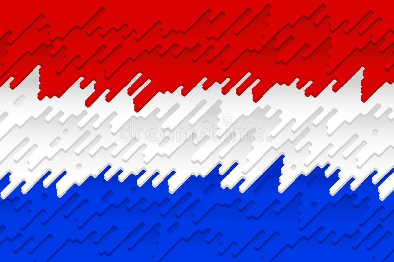 De Nationale Vlag van Nederland vector illustratie