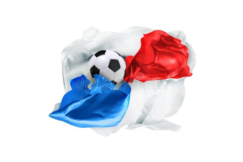 De nationale vlag van Panama De Wereldbeker van FIFA Rusland 2018 stock fotografie