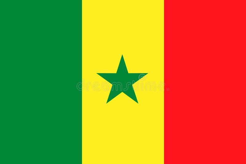 De Nationale Vlag van Senegal Vector illustratie dakar stock illustratie