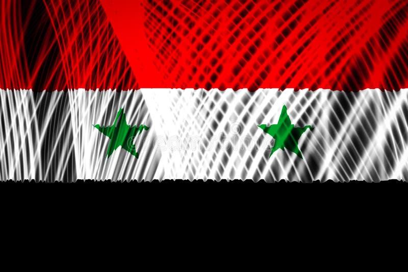 De nationale vlag van Syrië stock illustratie