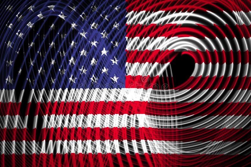 De nationale vlag van de V.S. stock illustratie