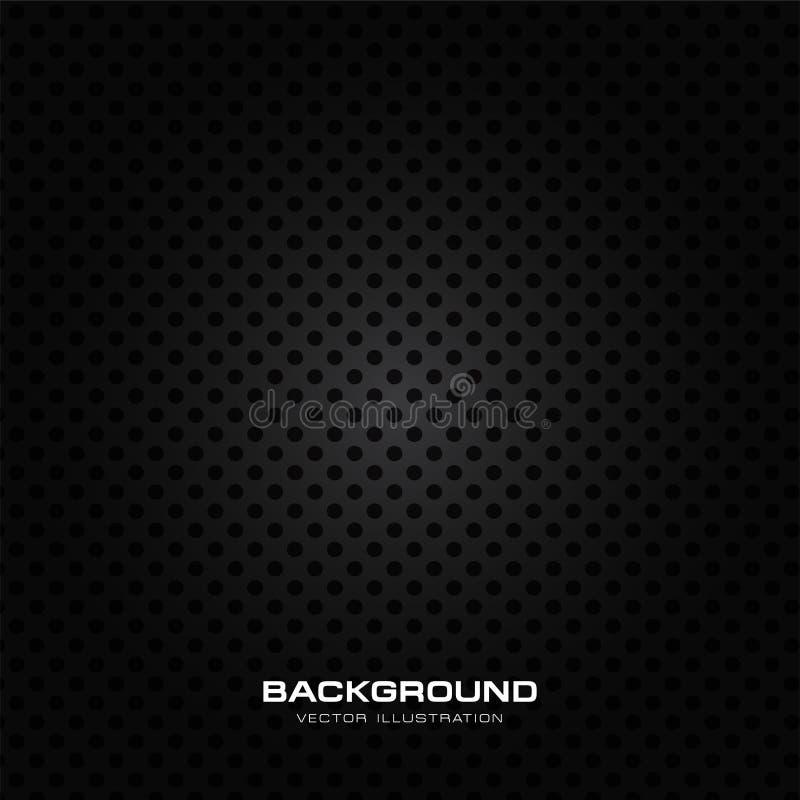 De natte textuur van het sprekerstraliewerk, zwart geperforeerd metaal als achtergrond stock illustratie