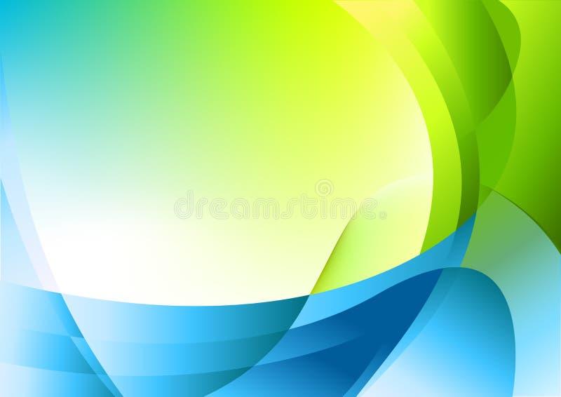 Download De Natuurlijke Achtergrond Van Krommen Vector Illustratie - Illustratie bestaande uit patroon, groen: 10780432