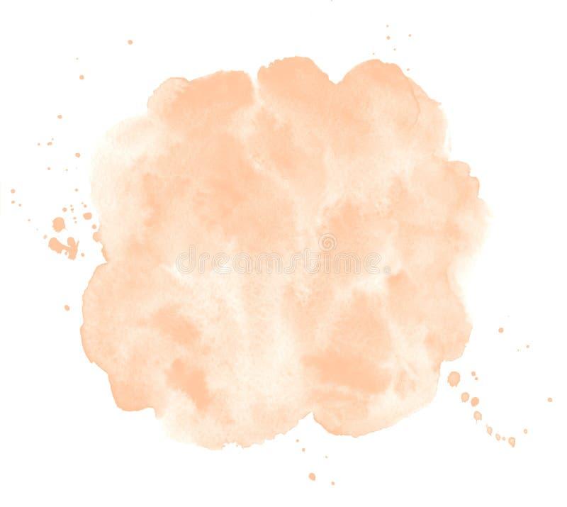De natuurlijke huidkleur, nam beige waterverf rond gemaakte plons toe royalty-vrije illustratie