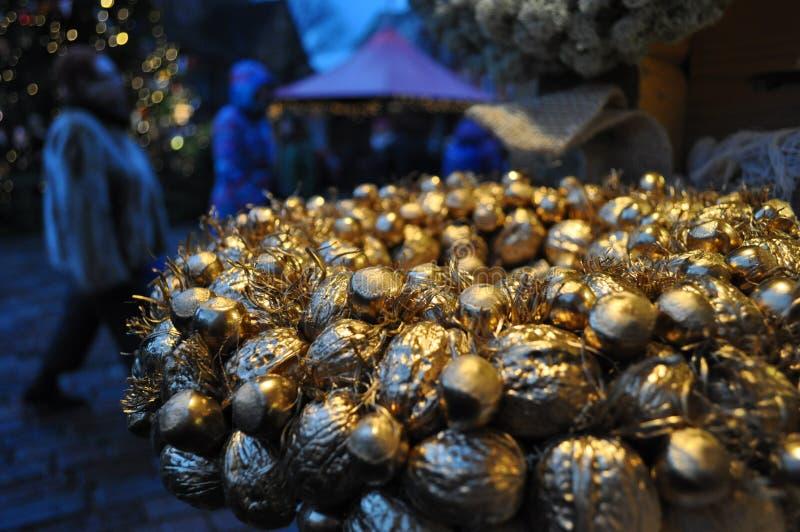 De natuurlijke kroon van Kerstmis royalty-vrije stock foto's